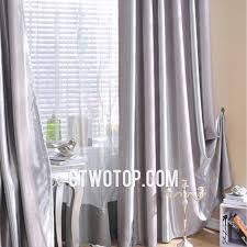 Custom Blackout Drapes Striped Blackout Faux Silk Gray Thick Custom Curtains