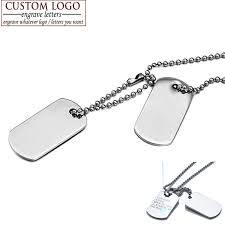 Personalized Dog Tag Necklaces Aliexpress Com Buy Aziz Bekkaoui Men Jewelry Custom Dog Tag