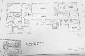 Duplex Floor Plan by New Floorplans For Robert A M Stern U0027s 220 Central Park South