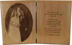 engraved wedding gift wedding gifts laser engraved frames plaques and photo cubes for