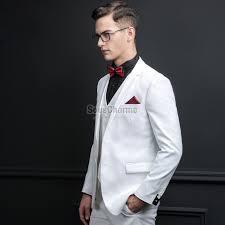 costume mariage blanc blanc blazer homme pour mariage haute couture slim 3 pièces