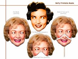 unique betty printable masks costumes actress comedy tv