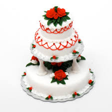 3 Tier Wedding Cake 3 Tier Christmas Wedding Cake Stewart Dollhouse Creations