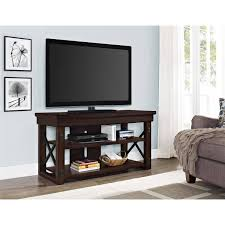 Tv Stands With Mount Walmart Better Homes And Gardens Espresso Steele Tv Stand For Tv U0027s Up To