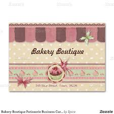 sweet business card for patisserie bakery and other sweet treat
