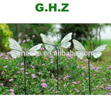 metal garden ornaments solar butterfly garden stick light factory