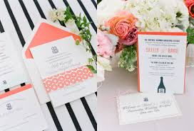 coral wedding invitations coral wedding invitation with mint green and navy accents
