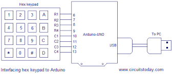 interfacing hex keypad to arduino full circuit diagram theory and