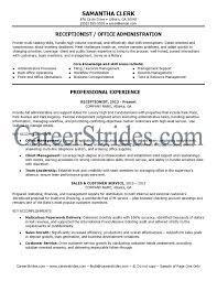 receptionist resume templates receptionist resume sle exle hunt sle