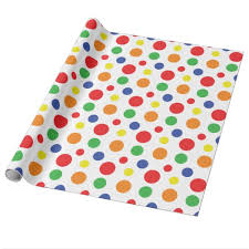 polka dot wrapping paper rainbow primary polka dots pattern wrapping paper zazzle
