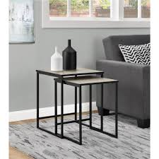 altra furniture stewart sonoma oak 2 piece nesting end table