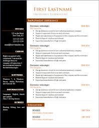 open office resume templates free download