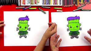 How To Draw Halloween Things Step By Step How To Draw Frankenstein Art For Kids Hub