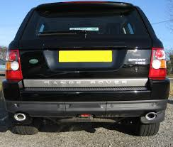 land rover sport cars twin exhaust tail pipe tips for range rover sport hst end