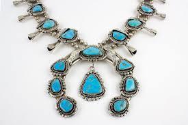 blue gem necklace images 1970s vintage navajo blue gem turquoise squash blossom necklace jpg