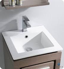 Small Modern Bathroom Vanity Fresca 16 Allier Small Modern Bathroom Vanity Grey Oak Finish