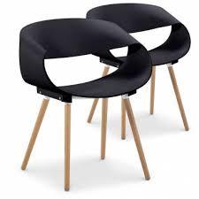 chaise design chaise design scandinave grise et bois lot de 2