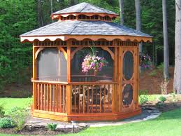 cedar gazebo fine homebuilding dream house pinterest