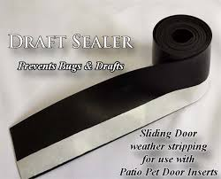 Patio Door Draft Draft Sealer For Sliding Glass Doors Bug Protection Weather Seal