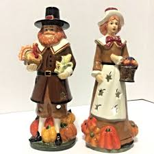 pilgrim candles thanksgiving interiors homco pilgrim candle holders thanksgiving fall ceramic