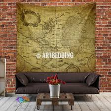vintage world map wall tapestry world map wall hanging artbedding vintage world map wall tapestry world map wall hanging old map wall decor historical vintage map interior