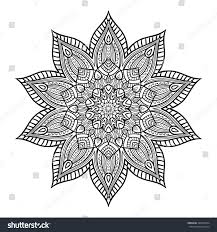 vector doodle flower mandala coloring book stock vector 420330724