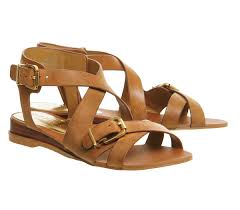 office boulevard wedge sandals tan leather sandals