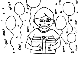 birthday boy coloring pages wide smile birthday boy colouring page happy colouring