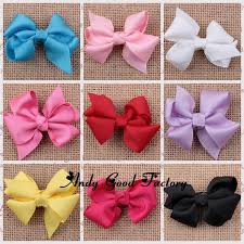 how to make baby hair bows 50pcs lot new baby ribbon bows solid diy handmade bow flowers for