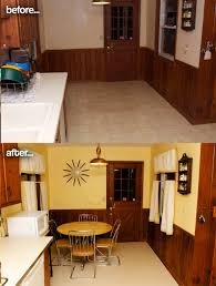 Kitchen Before And After by Amber U0027s 1961 Knotty Pine Kitchen Before And After Retro Renovation