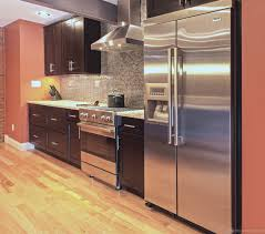 shaker dark wood cabinets new york kitchen design