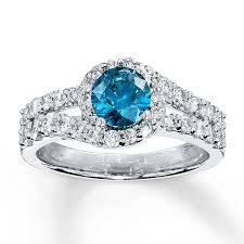 blue diamond wedding rings blue diamond ring 1 3 8 ct tw cut 14k white gold