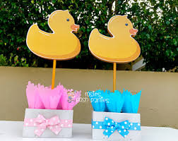 Yellow Duck Baby Shower Decorations Ducky Baby Shower Etsy