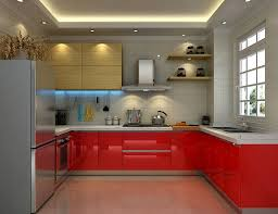 Red Kitchen Decorating Ideas Interesting Red And Grey Kitchen Decorating Idea With Luxury