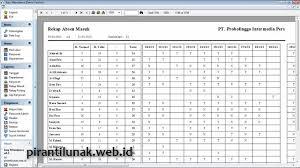format rekap absensi pegawai absensi sidik jari pirantilunak web id