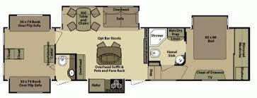 Open Range 5th Wheel Floor Plans 50 Foot Fifth Wheel 5 Slide Outs Corner Kitchen With Table An