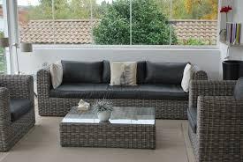 canapé de jardin en résine tressée canape jardin resine tressee salon de jardin en resine gris