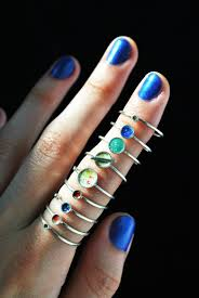 midi rings set rings silver midi rings planet rings stacking silver rings set