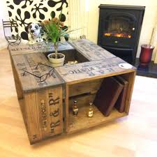 crate coffee tables rustic crate coffee table on wheel casters farmhouse style