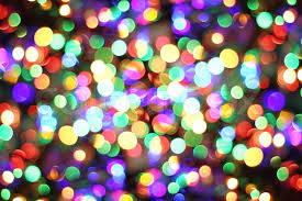 christmas light abstract background from color christmas lights stock photo