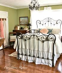 Ideas For Antique Iron Beds Design See The Before And After Of This Antique Iron Bed Saving The