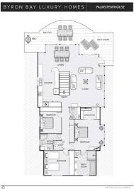 Luxury Penthouse Floor Plan by Palms Penthouse Byron Bay Luxury Homes