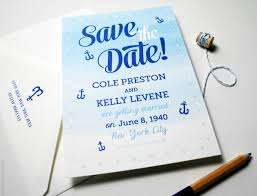 Nautical Save The Date Custom Save The Dates Unique Wedding Invitations U0026 Personalized