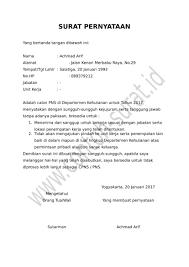 contoh surat pernyataan untuk melamar kerja contoh surat pernyataan lamaran kerja archives codeshaker co fresh
