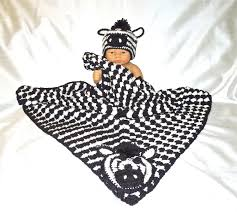 crochet baby blanket hat set newborn baby zebra black white