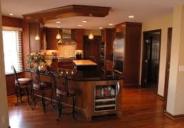 kitchen with angled peninsula kitchen islands with breakfast bar