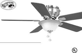 hampton bay fans hawkins 44 in ceiling fan 122 135 pdf user u0027s