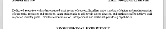 Individual Resume A Good Resume Is The Foundation Of Your Job Search Stark Lane
