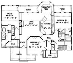 Split Floor Plan House Plans Southern Style House Plan 3 Beds 3 00 Baths 4172 Sq Ft Plan 54 105