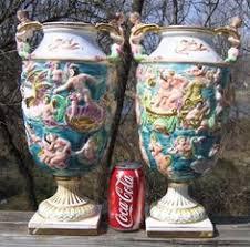 Capodimonte Vases Antique Old Victorian Ardalt Capodimonte Antique Lamp Antique